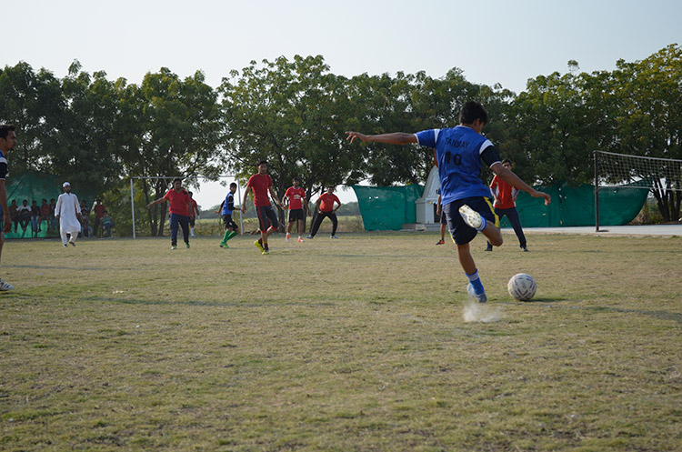 Engineering College Football Match