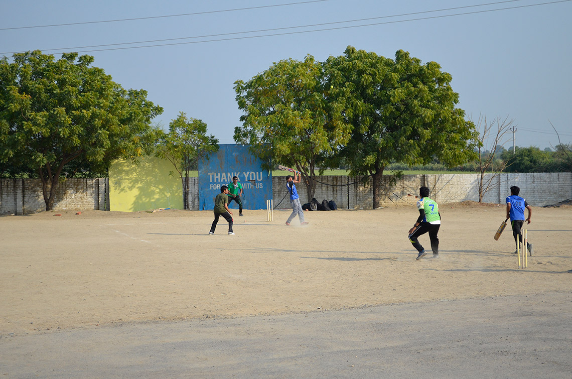 Cricket Match at Amiraj Ahmedabad