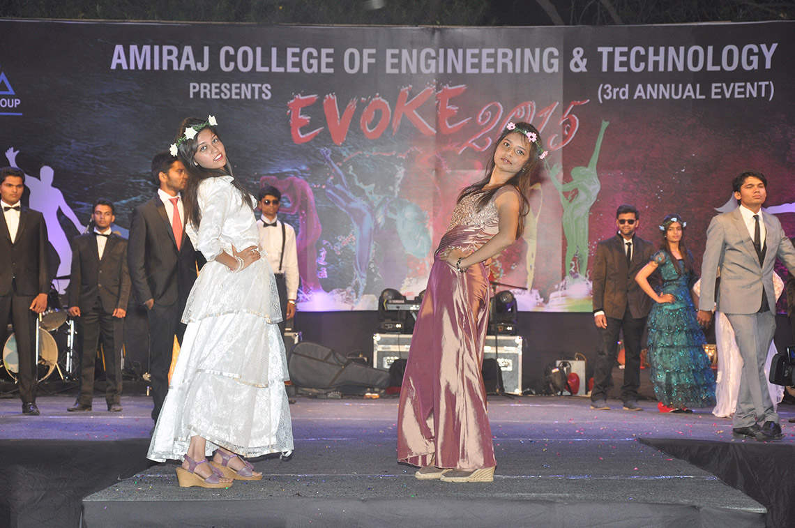 Ramp Walk Event of College Girls