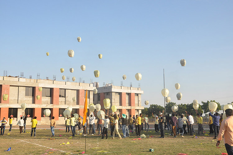 Kite Day Celebration of Amiraj College