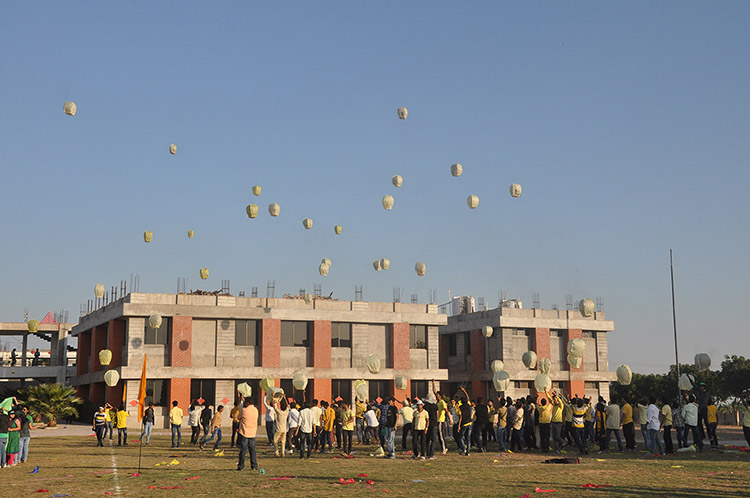 Kites Day in Engineering College