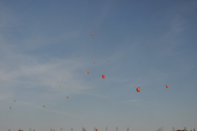 Kites Day in Amiraj Engineering College