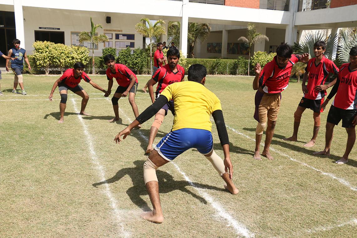 Amiraj Engneering College Kabbadi Match
