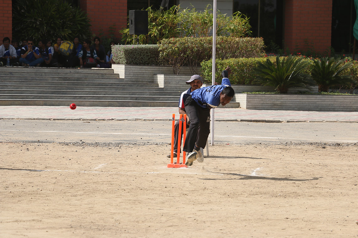 Cricket Match in College