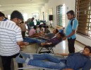 Engineering student Donating Blood