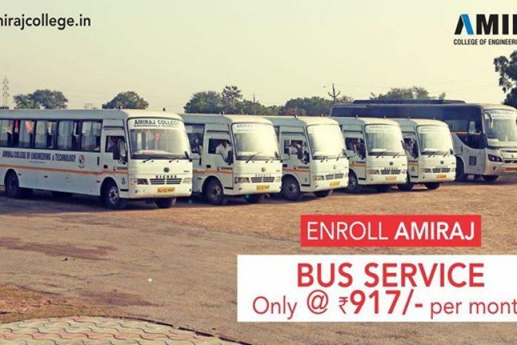 Enroll Bus Service of Amiraj College