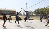 volleyball Match in College
